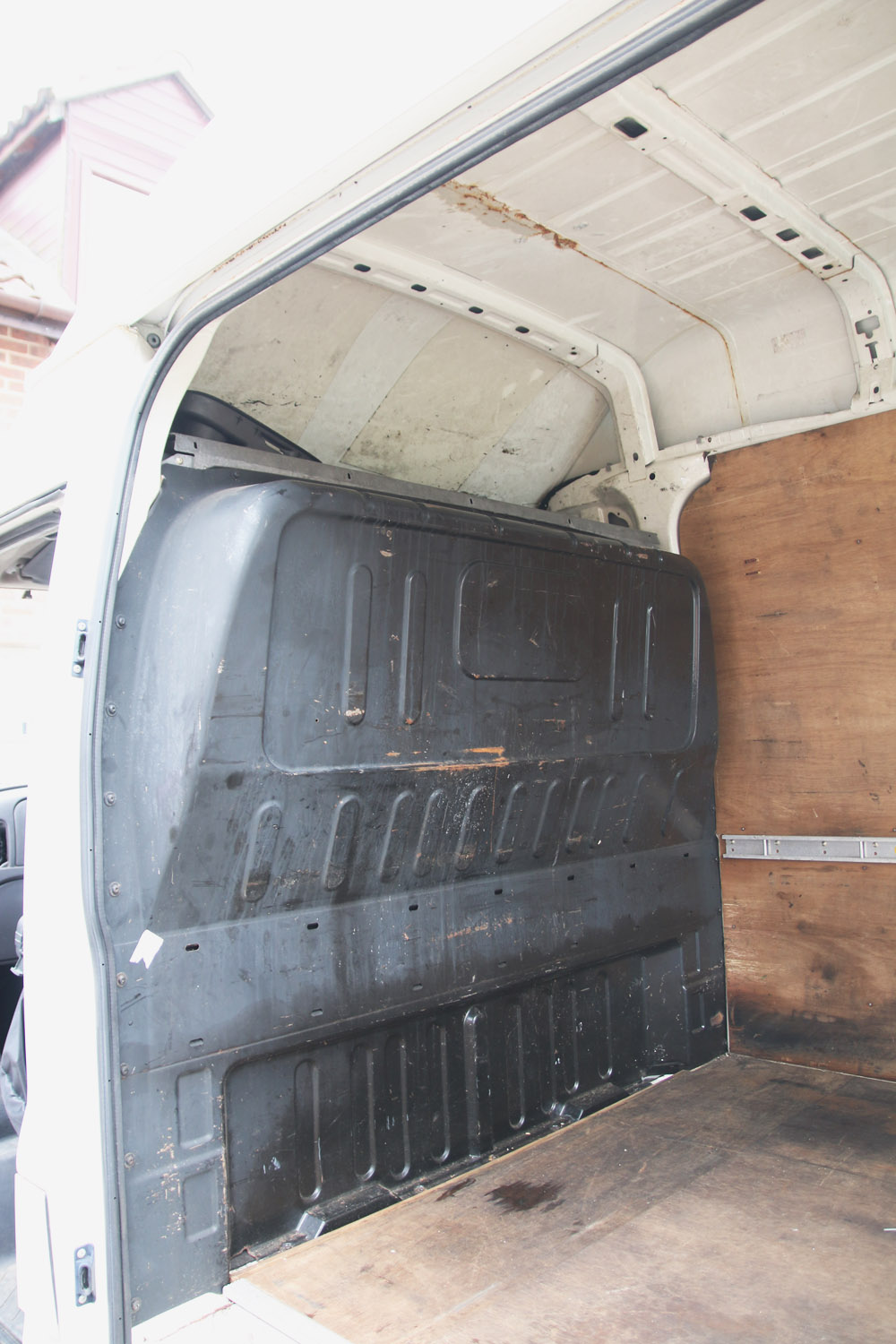 Van Conversion Removing Bulkhead & Plywood