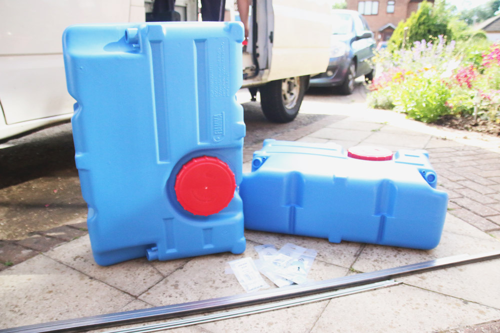 Van Conversion - Water tanks