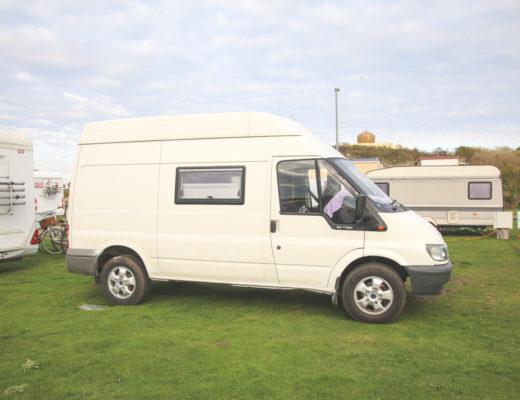 Van Conversion: Carpet Lining the Van Walls | Adventures in a Camper
