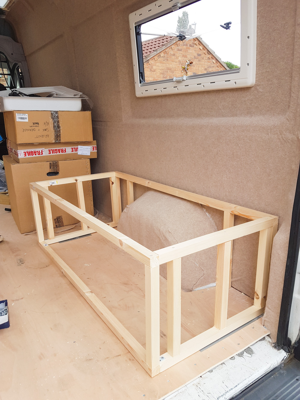 Building The Sofa Amp Bedframe Adventures In A Camper
