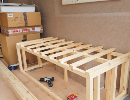 Building a campervan bedframe