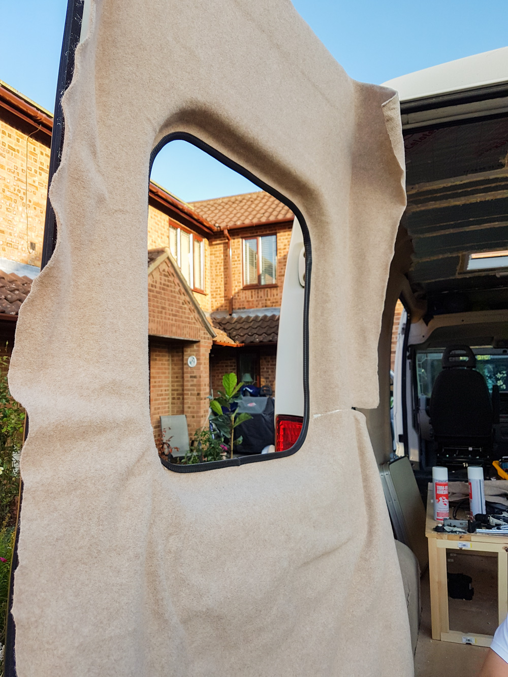Van Conversion Carpet Lining The Van Walls Adventures