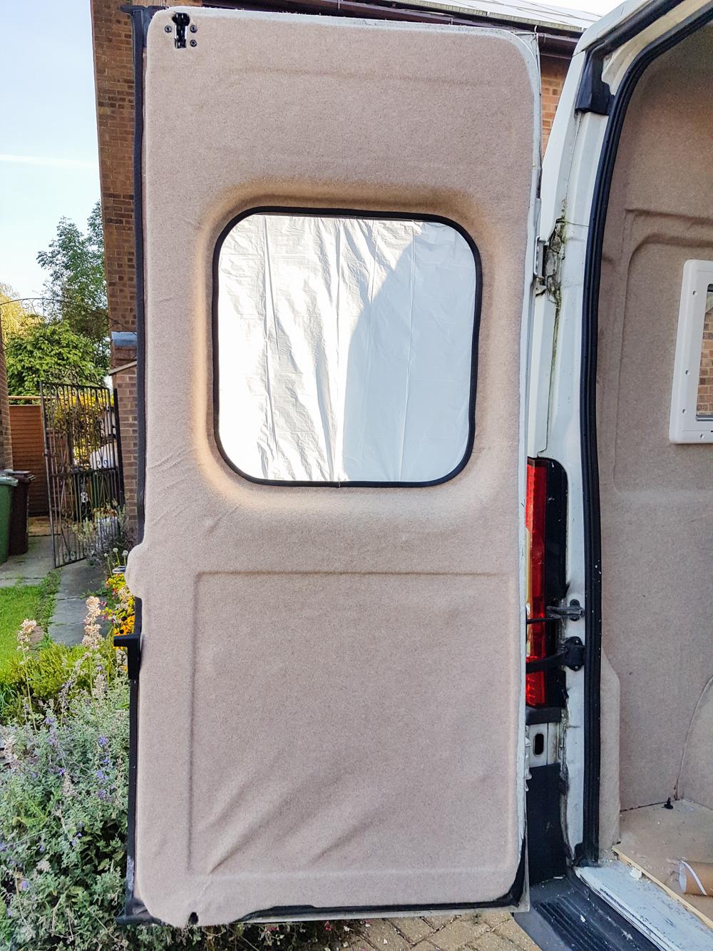 Carpet Lining Van Doors