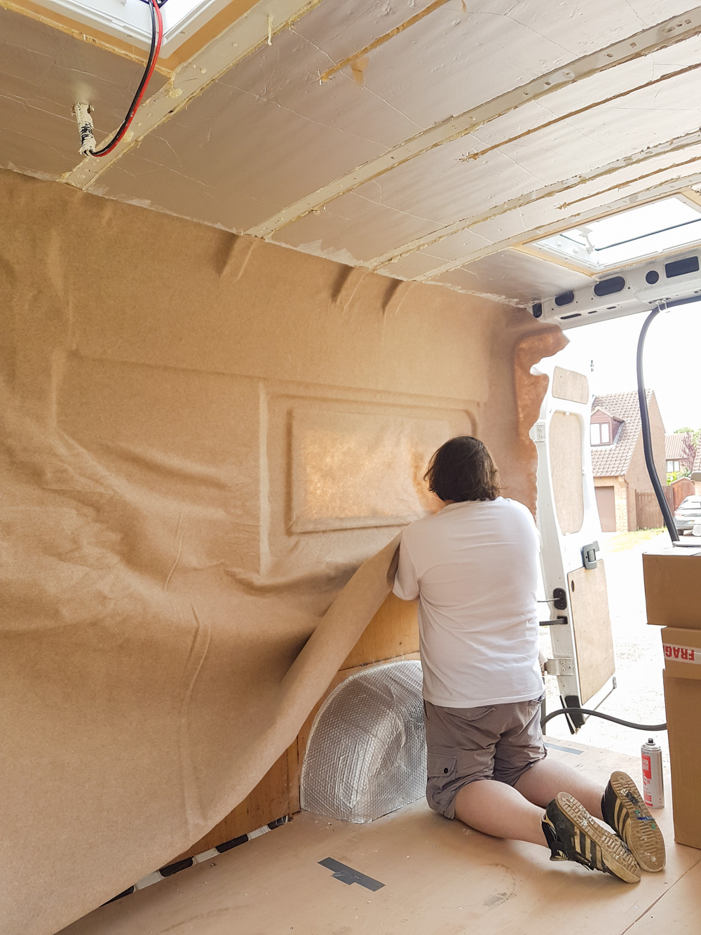 Van Conversion Carpet Lining The Van Walls Adventures