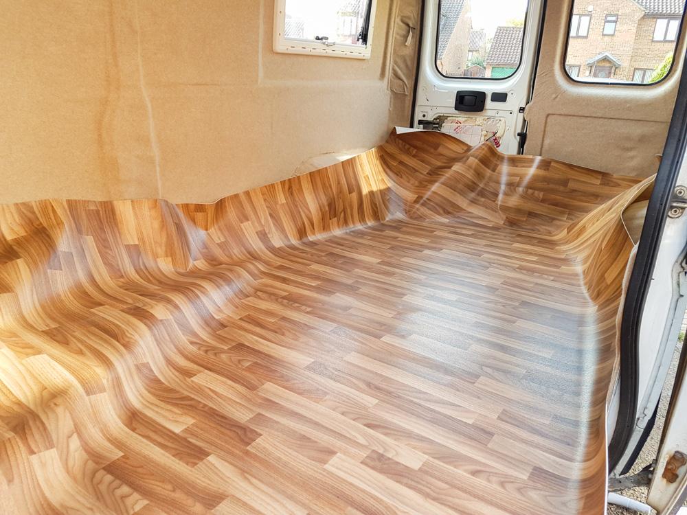 Van Conversion Installing Vinyl Flooring Adventures In