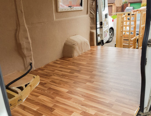 Van Conversion - Installing Lino Flooring in a Campervan