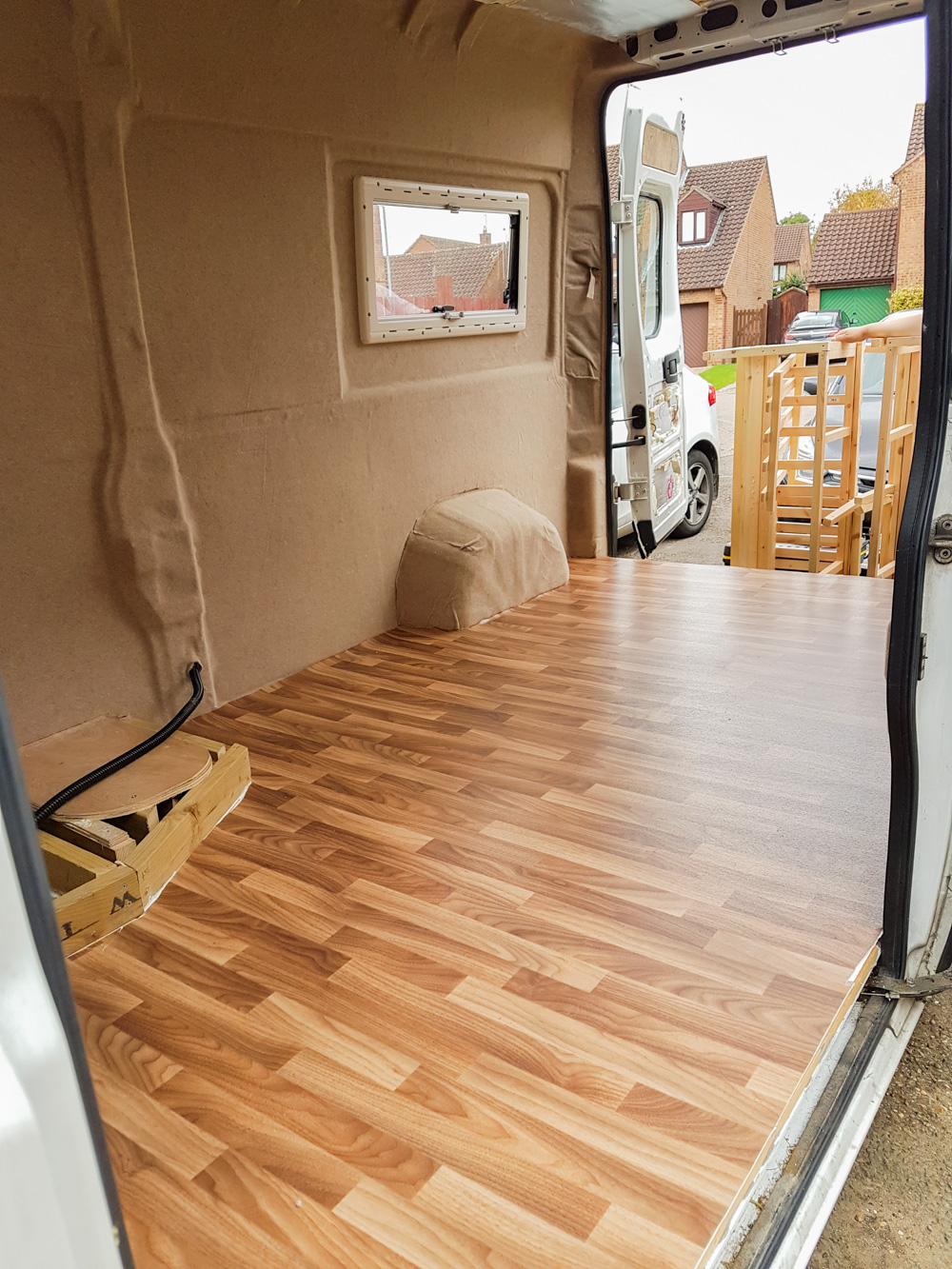 Van Conversion Installing Vinyl Flooring Adventures In A Camper - What do you put under vinyl flooring