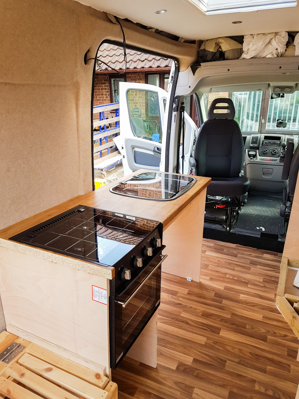 Demi the Ducato Van Conversion Kitchen