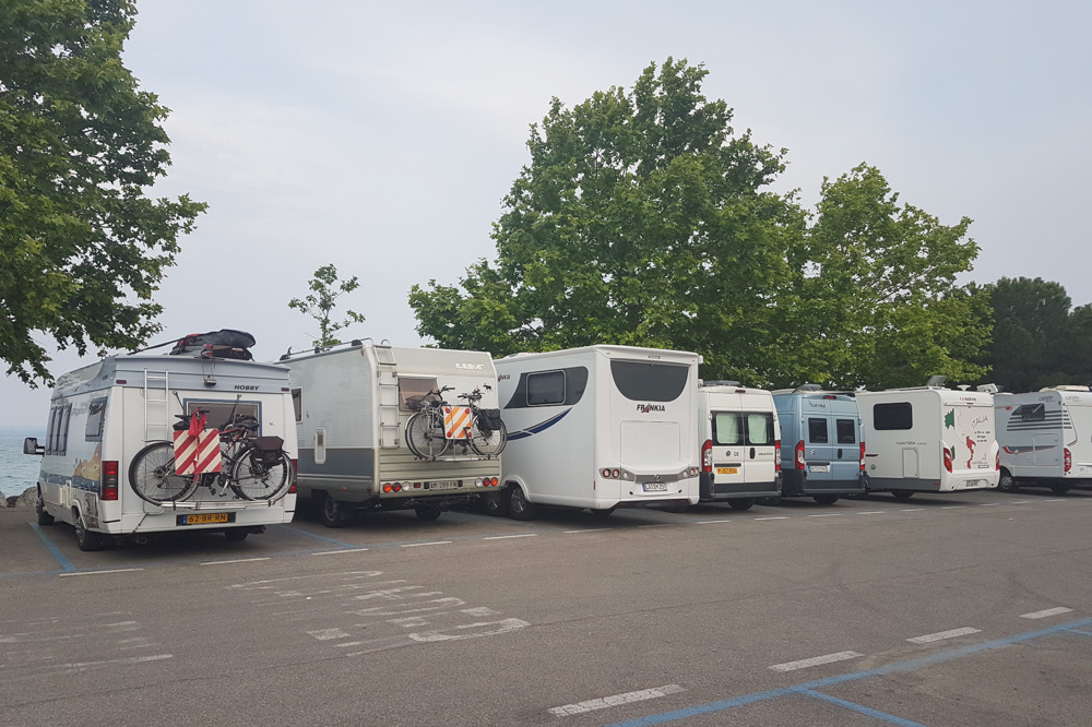 Camping at Sirmione, Lake Garda