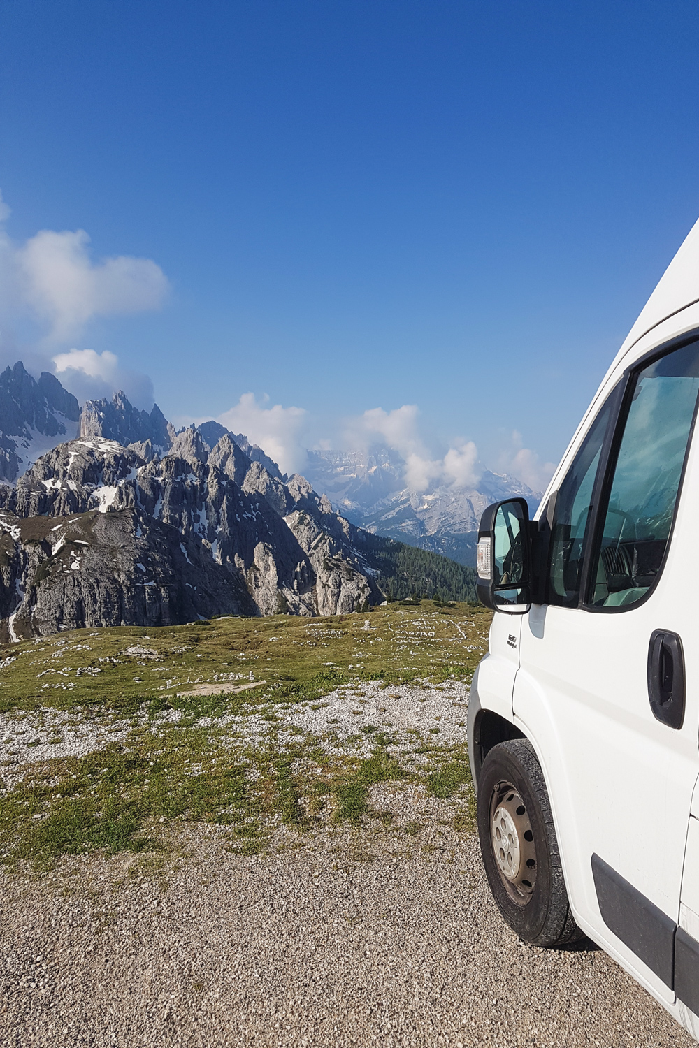 Campervan in the Dolomites, Italy
