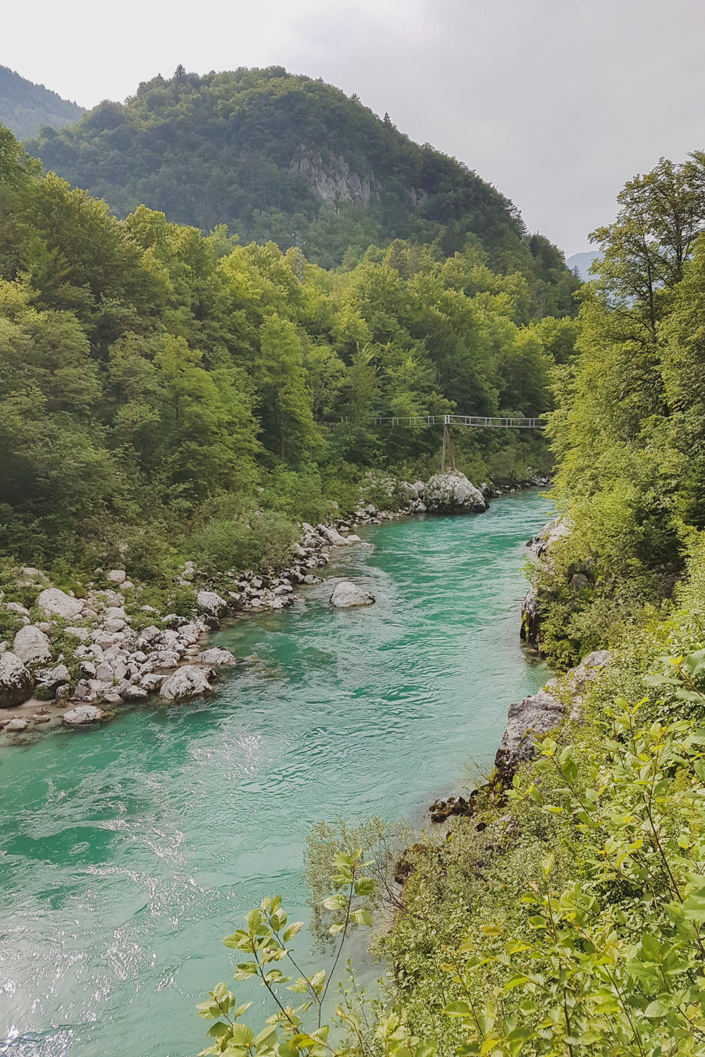 Soca River at Kobarid, Soca Valley
