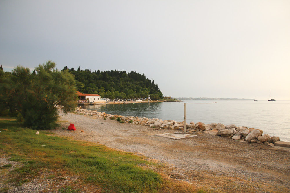 Beach in Slovenia near Piran