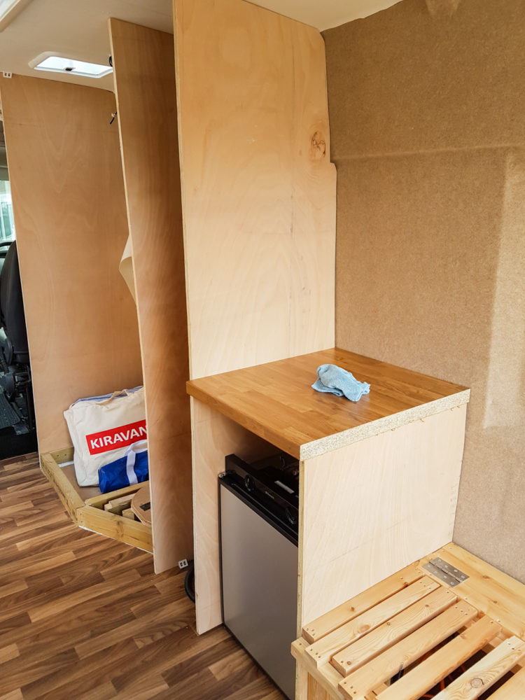 Campervan Conversion - Installing the Fridge