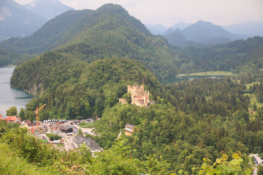 Views from Neuschwanstein Castle, Germany