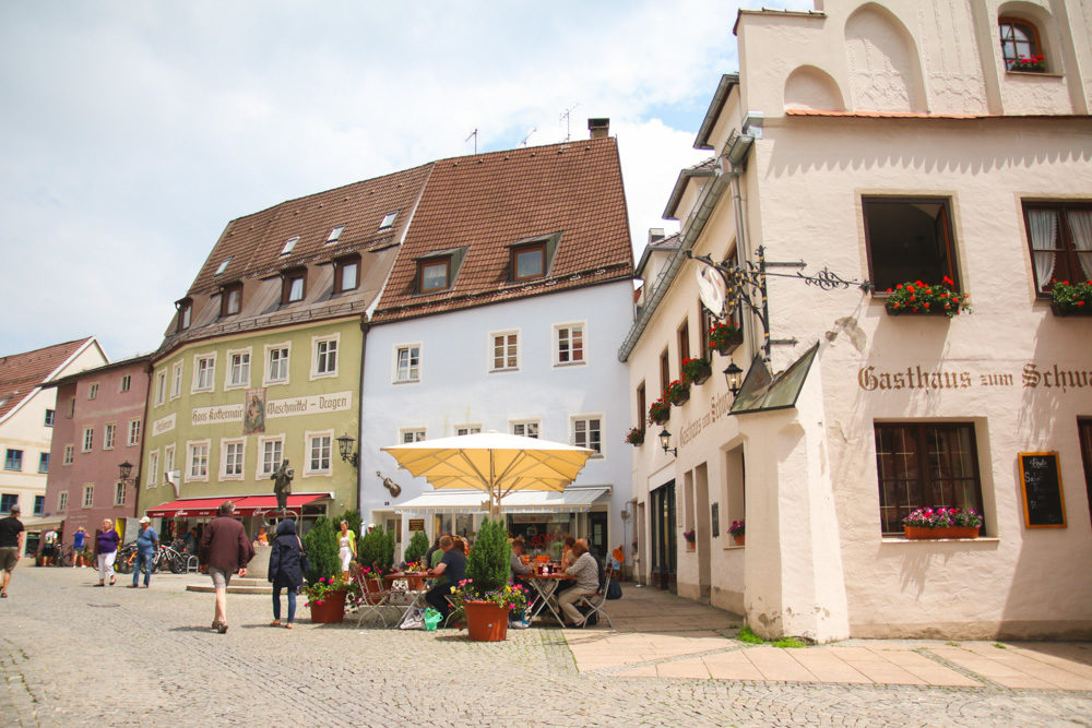 Colourful Streets of Fussen, Germany