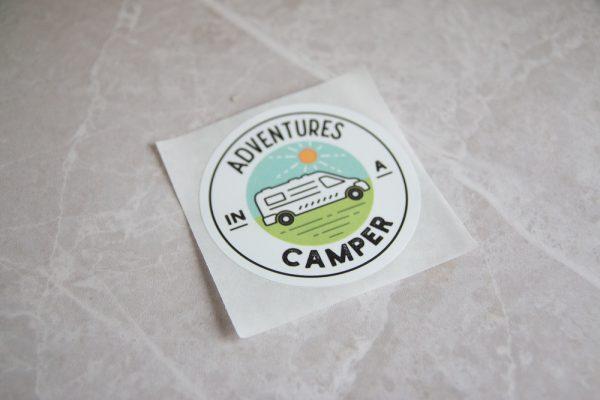 Adventures in a Camper Bumper Sticker