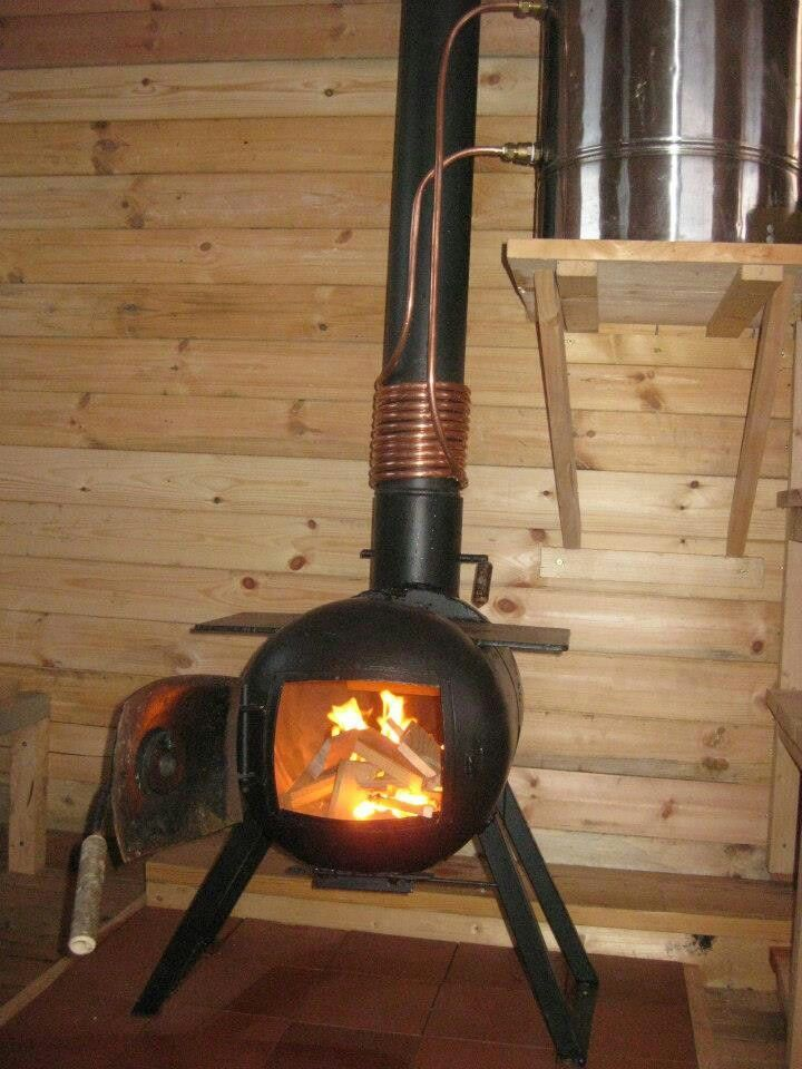 log burner water heater