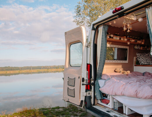 Campervan at a Lake in Slovakia