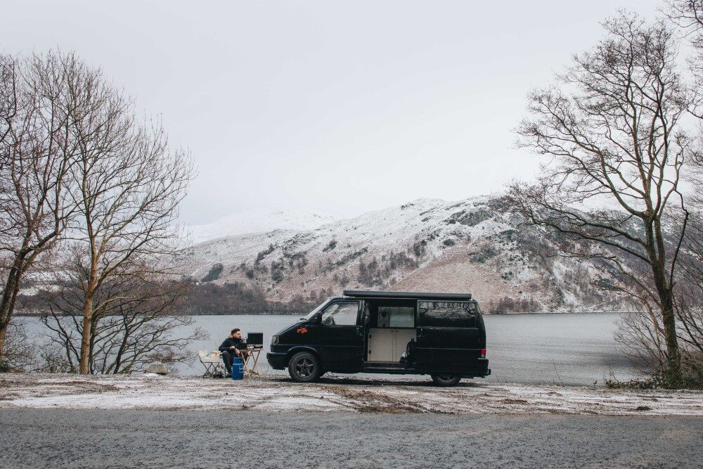 Campervan in Snow