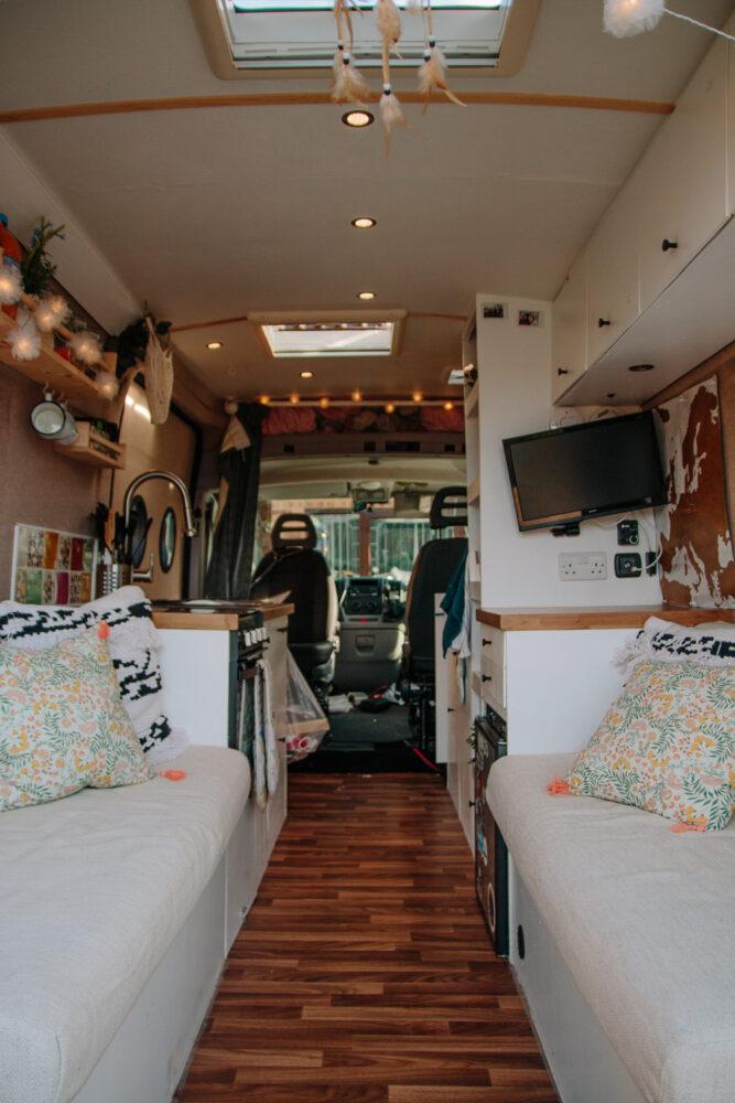 DIY Popup Shower in a Campervan