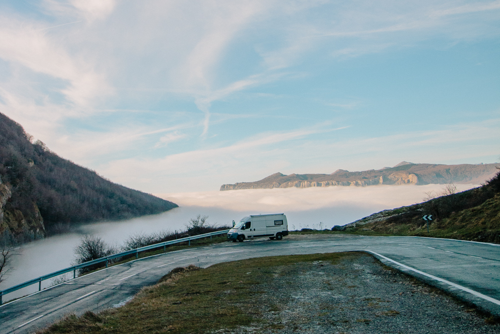 Spain Mountain Road Cloud Inversion